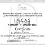 2003 International Master Course on Aging Skin Paris, France