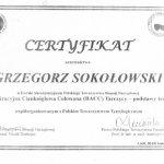 2013 dr n.med. Grzegorz Sokołowski - Certyfikat BACC tarczycy - biopsja aspiracyjna cienkoigłowa celowana