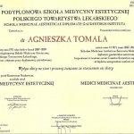 2009 Dyplom uzyskania tytułu lekarza medycyny estetycznej