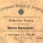 2006 The European Board of Surgery Qualification in Endocrine Surgery