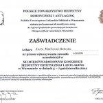 2012 Dr Aneta Majchrzak-Habryka - Kongres Medycyny Estetycznej i Anti-aging