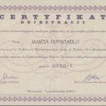 2002 Certyfikat Rejestracji