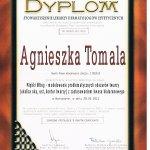 2011 Dyplom uczestnictwa dr A.Tomali w kursie medycznym pt.