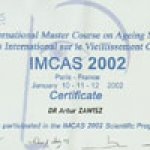 2001 I.M.C.A.S. International Master Course on Aging Skin Paris, France
