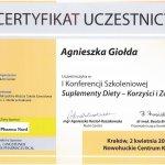 2011 Agnieszka Giołda - konferencja Nutri Center - Suplementy diety