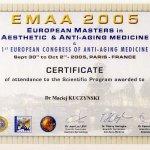 2005 EMAA 2005 - European Mastering in Aesthetic & Anti-aging medicine & 1st European Congress of Anti-aging Medicine