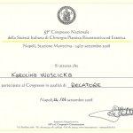 2008 Certyfikat za uczestnictwo w Kongresie