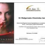 2009 Zastosowanie Regeneris w rewitalizacji skóry twarzy - innowacyjny program biostymulacji