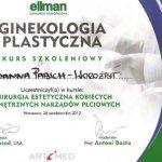 2012 Joanna Pabich-Worożbit - kurs: Chirurgia estetyczna kobiecyhch zewnętrznych narządów płciowych