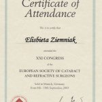 2003 European Society of Cataract and Refractive Surgeons