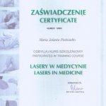 2006 ZAŚWIADCZENIE: Lasery w medycynie