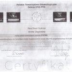 Certyfikat dr. Zapolska-Wurm