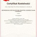 2014 Certyfikat Rzetelności