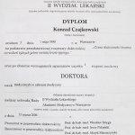 2006 Dyplom uzyskania tytułu doktora