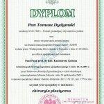 2009 Dyplom uzyskania tytułu specjalisty w dziedzinie chirurgia plastyczna dla Tomasza Dydymskiego