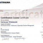 2010 Contributors Course Certificate dla Ireneusz Walaszek