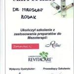 Ukończenie szkolenia z zastosowania preparatów do Mezoterapii