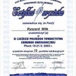 2005 XI Zjazd Towarzystwa Polskiej Chirurgii Onkologicznej