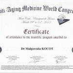 2012 Dr Małgorzata Kocot - Anti-Aging Montecarlo