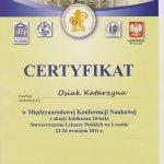 2011 Certyfikat