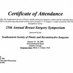2009 25th Annual Breast Surgery Symposium Southeastern Society of Plastic and Reconstructive Surgeons