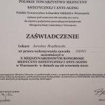 2010 Certyfikat uczestnictwa w X Międzynarodowym Kongresie Medycyny Estetycznej i Anti-Aging