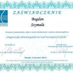 2011 Dr Bogdan Szymala - kurs z zakresu ultrasonografii