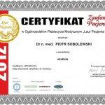 2012 Laur Pacjenta 2012