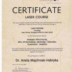2009 Dr Aneta Majchrzak-Habryka - Asclepion laser course