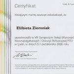 2006 Sympozjum Sekcji Wszczepów Wewnątrzgałkowych i Chirurgii Refrakcyjnej PTO