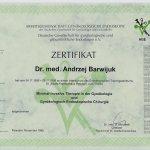 1999 Certyfikat uczestnictwa w kursie