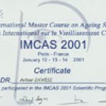 2002 I.M.C.A.S. International Master Course on Aging Skin Paris, France