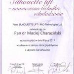 2011 Maciej Charaziński - szkolenie z zakresu chirurgii plastycznej z użyciem nici Sihouette