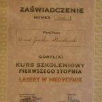 2002 Zaświadczenie odbycia kursu