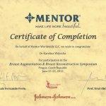 2012 Certyfikat za udział w Sympozjum