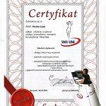 2011 Certyfikat VACU LINE