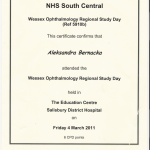 2011 Wessex Ophthamology Regional Study Day