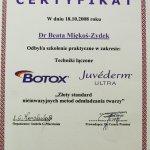 2008 Botox, Juvederm - szkolenie