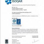 2013 Certyfikat zarządzania jakością ISO 9001