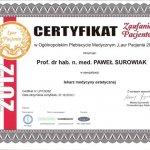 2012 Certyfikat Zaufania Pacjentów
