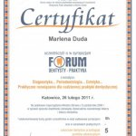 2011 Sympozjum FORUM - Diagnostyka, Periodontologia, Estetyka - Praktyczne rozwiązania dla codziennej praktyki dentystycznej
