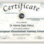 2002 European VitreoRetinal Training School