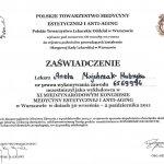 2011 Dr Aneta Majchrzak-Habryka - Kongres Medycyny Estetycznej i Anti-aging