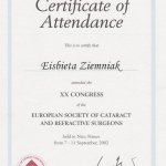 2002 European Society of Cataract and Refractive Surgeons