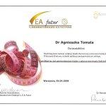2008 Certyfikat uczestnictwa dr A.Tomali w kursie nt. stosowania fosfatydylocholiny