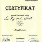 2002 Certyfikat ukończenia kursu chirurgii tarczycy