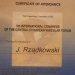 2006 Certyfikat uczestnictwa w kongresie