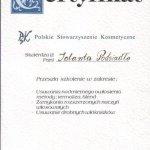 1999 Certyfikat potwierdzający szkolenie z zakresu: