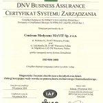 2005 Certyfikat Systemu Zarządzania Jakością