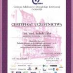 Ukończenie kursu pt.: Techniki laserowe w dermatologii estetycznej - cz. I